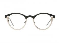 QUATTROCENTO Eyewear TWIGGY ROUND Blaclk Silver